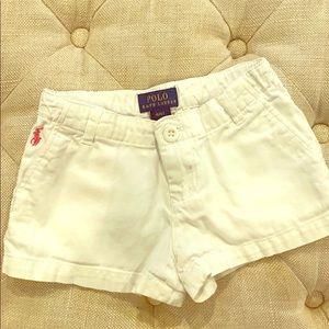 Ralph Lauren Polo white girls shorts 4/4T